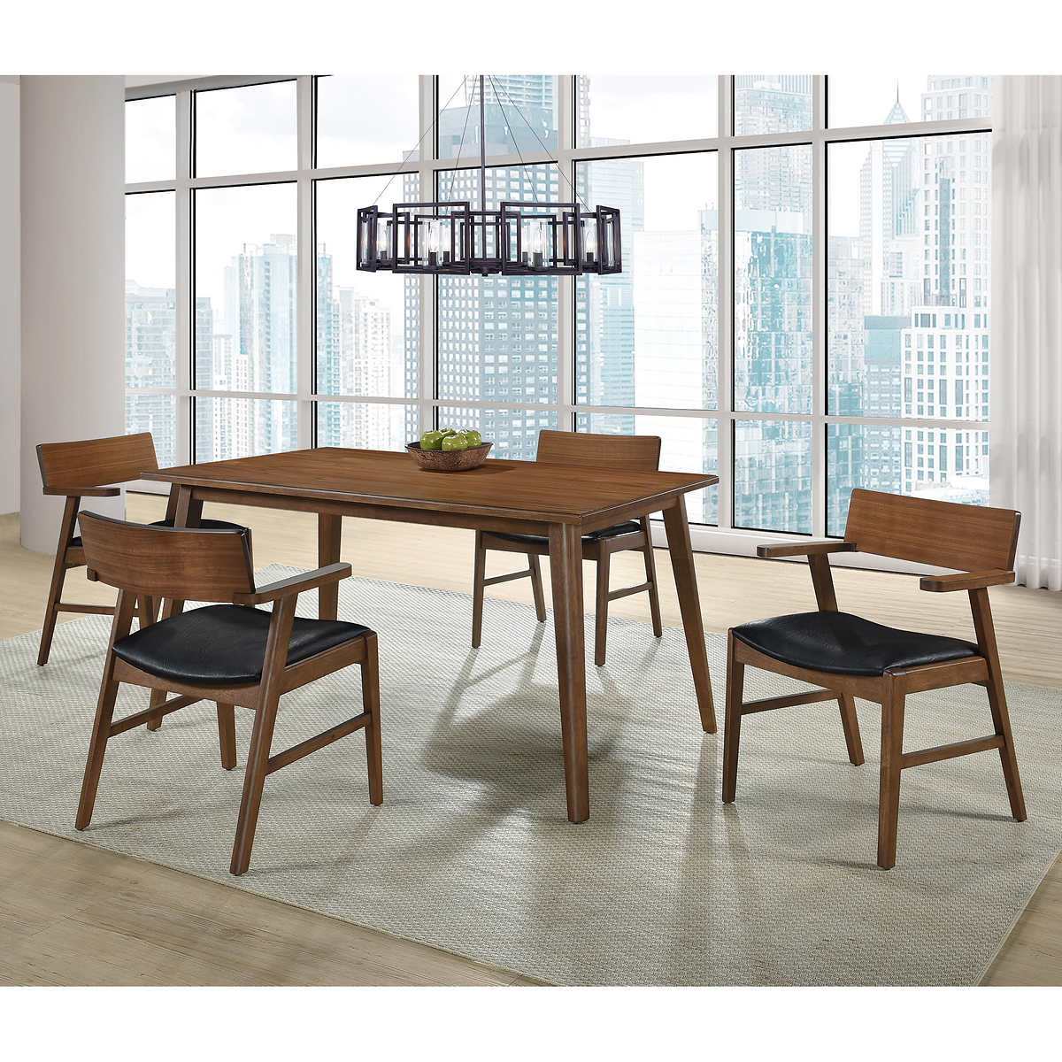 Tufted Chaise Lounge Chair, Eden Condo 5 Piece Dining Room Set