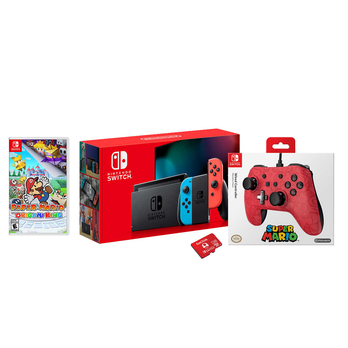 Nintendo Switch Red Blue Paper Mario Bundle Hey guys, first time posting, went with a friend who is a costco member to the docklands store, they were selling the nintendo switch for $439, which is by far the cheapest i use a 5% discounted wish card to get the bundle at bigw for $493.05. nintendo switch red blue paper mario bundle