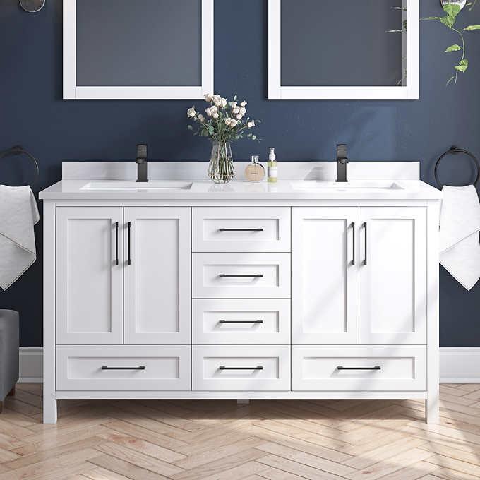 Ove Lourdes 60 In Double Vanity Costco, Ove Bathroom Vanities Costco