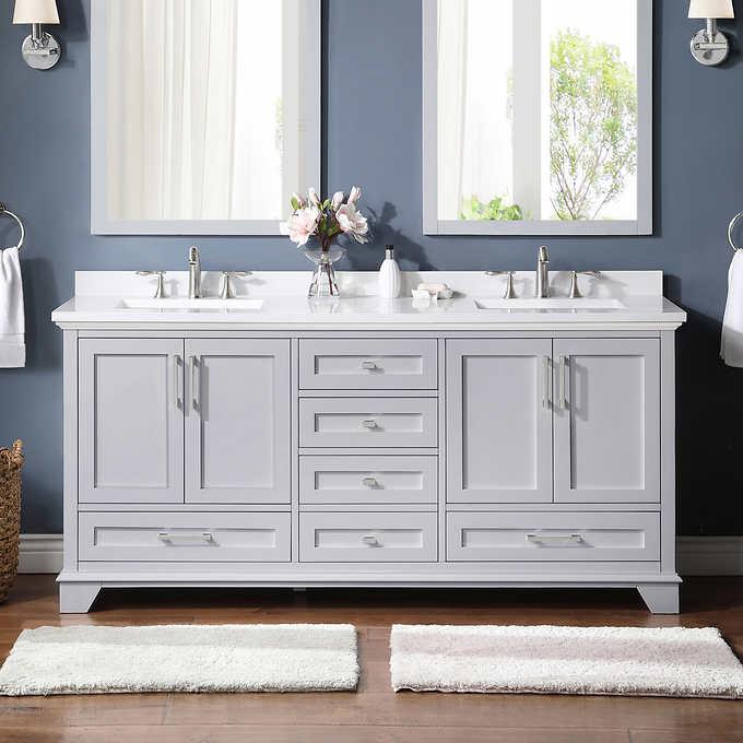 Ove Hamburg 72 In Double Vanity Costco, Ove Bathroom Vanities Costco