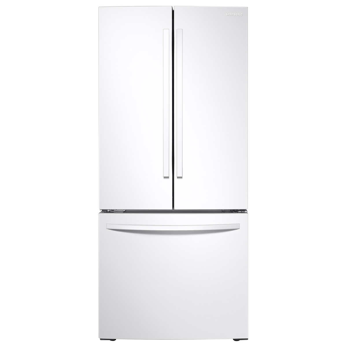 Samsung 30 In 21 8 Cu Ft White French Door Refrigerator With All Around Cooling
