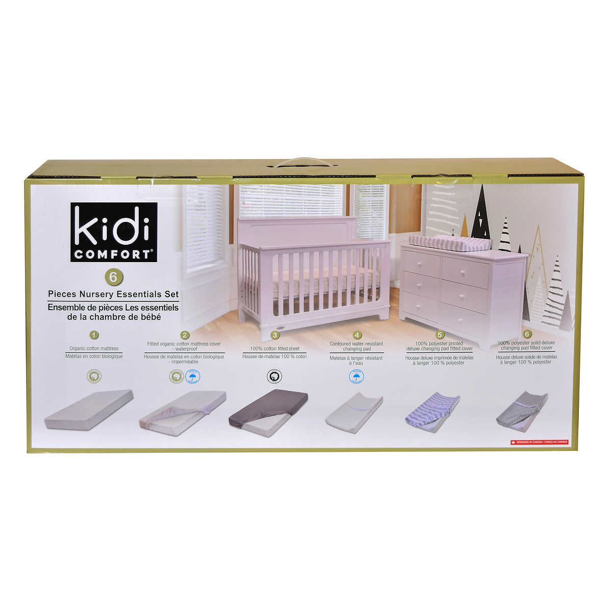 Kidicomfort Nursery Essentials 6 Piece Set