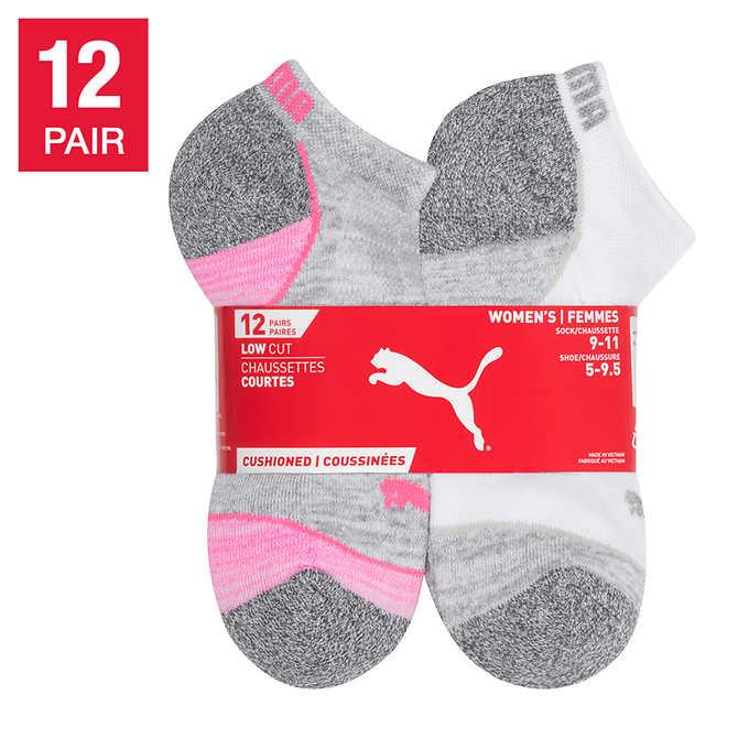 Puma Women's Athletic Sock, 12-pack