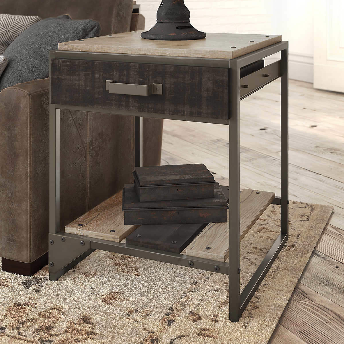 Bush Refinery End Table With Drawer