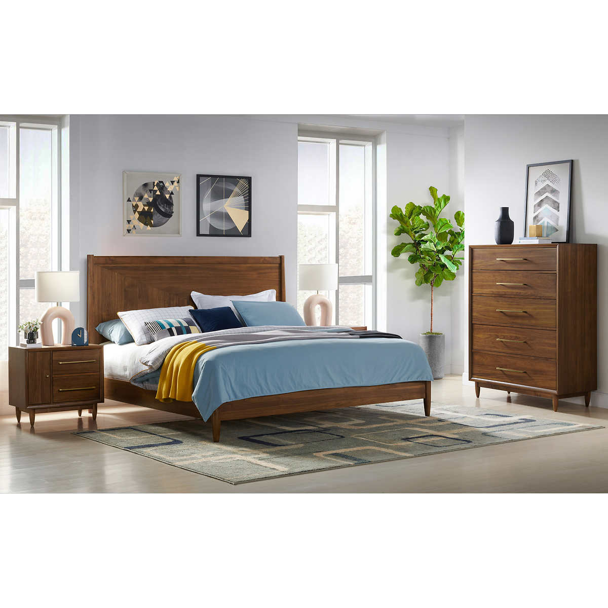 Marina Del Rey 9-piece Mid-Century Modern Queen Bedroom Set