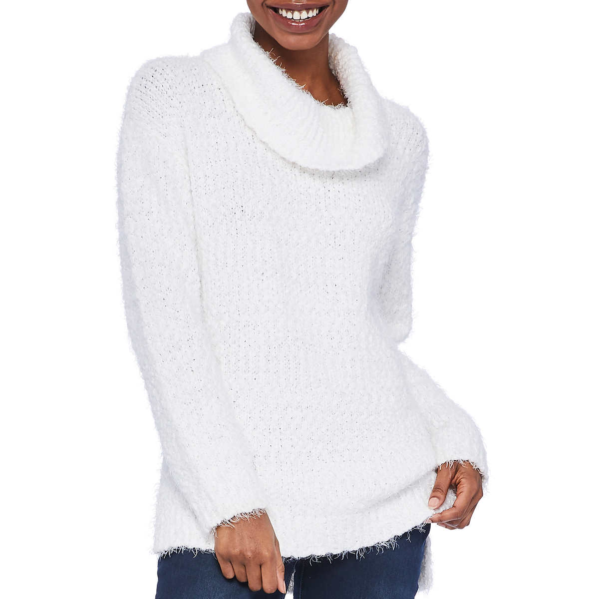 Kenneth Cole Women S Cowl Neck Tunic Sweater
