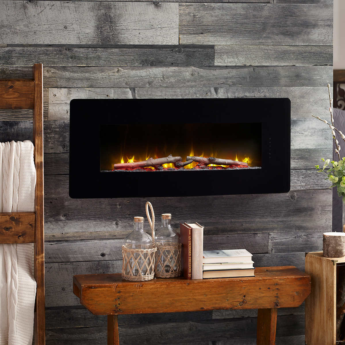 Dimplex Miles 20.20 cm 20 in. Black Wall Mount/Tabletop Linear Electric  Fireplace