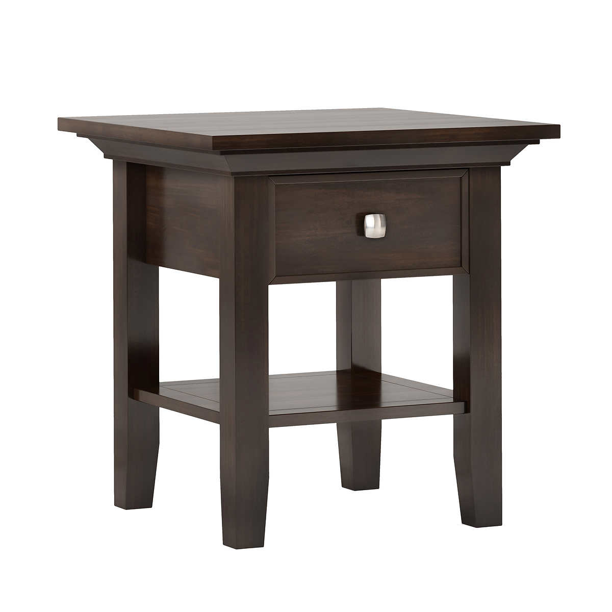 Cypress Hills Greystone Rustic End Table