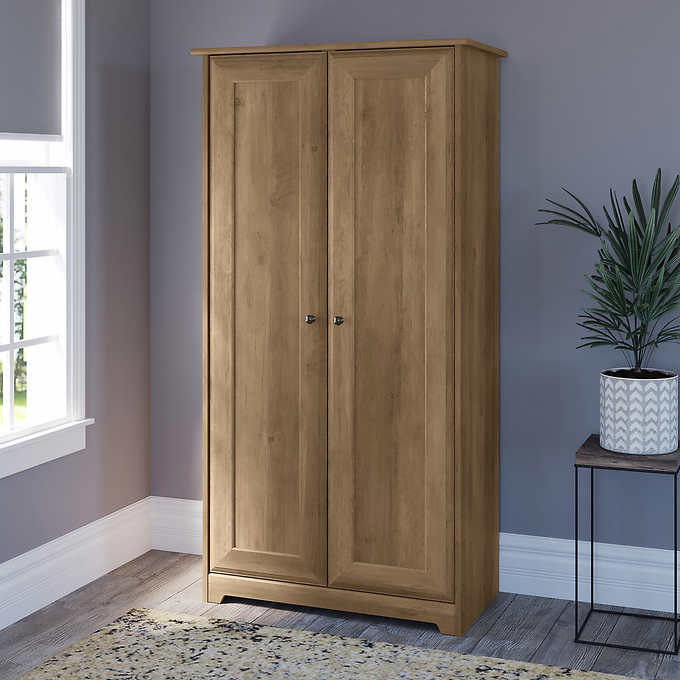 Bush Cabot Tall Storage Cabinet With, Tall Storage Cabinets With Doors