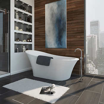 ove rachel freestanding tub with athena faucet. Black Bedroom Furniture Sets. Home Design Ideas