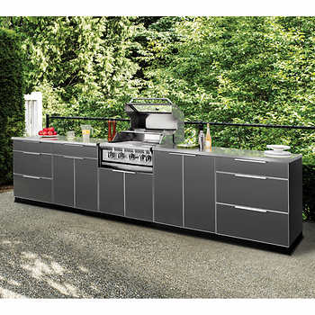 newage products outdoor kitchen aluminum series components