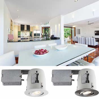 luxlite 4 in recessed led lighting kit par20 4 pack. Black Bedroom Furniture Sets. Home Design Ideas