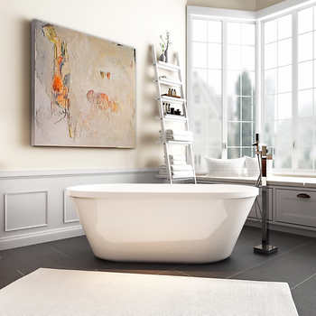 fiberglass free standing tub. Free Standing Fiberglass Bathtub  Ove Colton Freestanding Tub With Infinity Faucet Shop MAAX Lounge
