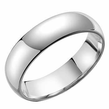 plain domed platinum men s wedding band
