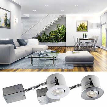 luxlite 3 in recessed led lighting kit gu10 4 pack. Black Bedroom Furniture Sets. Home Design Ideas
