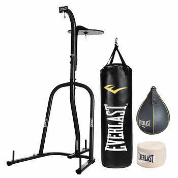 Everlast® Heavy Bag and Adjustable Speed-bag Stand