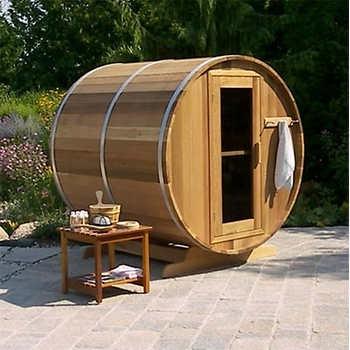 Dundalk 4-person Western Red Cedar Barrel Sauna