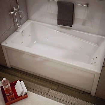 maax new town whirlpool bathtub with left hand drain. Black Bedroom Furniture Sets. Home Design Ideas