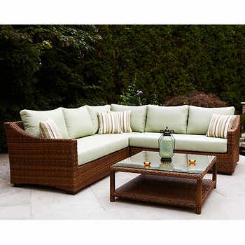 South Beach 4 Piece Sectional Sofa Set