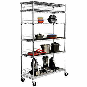 trinity ecostorage nsf 6 tier wire shelving rack. Black Bedroom Furniture Sets. Home Design Ideas