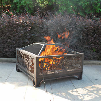 Antique Vine Outdoor Wood Burning Fire Pit