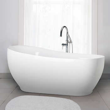 jono dale 71 in free standing oval bathtub combo. Black Bedroom Furniture Sets. Home Design Ideas