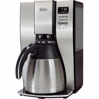 Coffee Maker Thermal Carafe Removable Water Reservoir : Oster Optimal Brew 10 Cups Thermal Carafe Coffee Maker