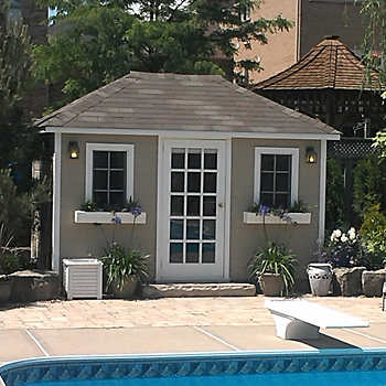 Yorktown 8 Ft X 12 Ft Canexel Storage Shed Sand