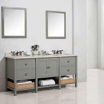 cypress hills 73 in dove grey forsythe bathroom vanity