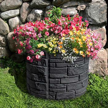 Sierra Stone 94 L Round Self Watering Planter