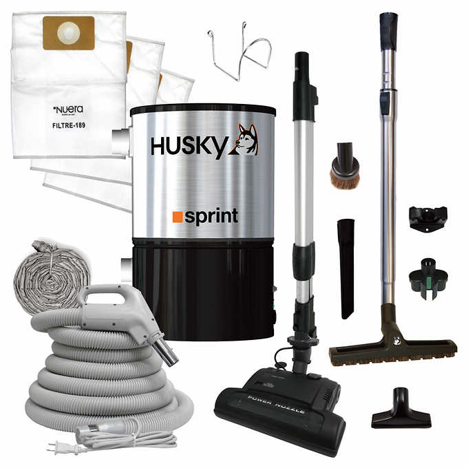 Husky Sprint Central Vacuum - Electric Kit - 325 m² (3,500 ft²)