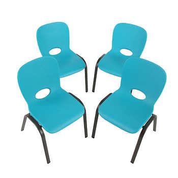 Lifetime 174 Kids Stacking Chair 4pk Blue