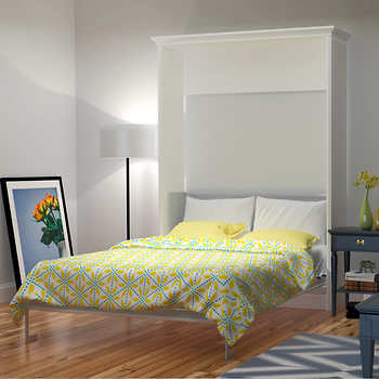 Bed Amp Room Porter Queen Portrait Wall Bed In White