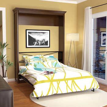 Bed Amp Room Porter Queen Portrait Wall Bed In Walnut