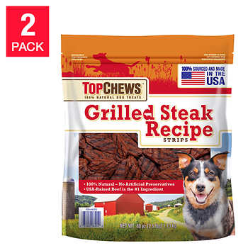 Top Chews® Grilled Steak Recipe 100% Natural Dog Treats 2 ...