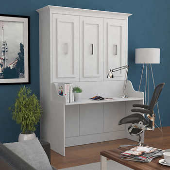 Bed Amp Room Porter Full Portrait Wall Bed With Desk In White