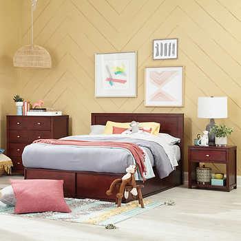 Modeno 3 piece Full Storage Bed Set