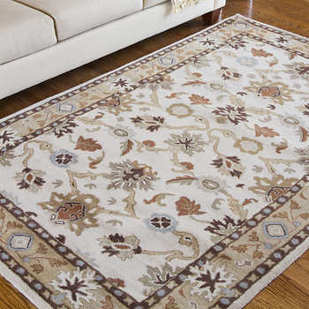 Meadow Hand Tufted 100% Wool 8 ft x 11 ft Rug