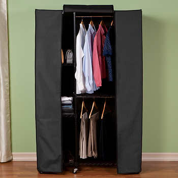 Seville Classics Garment Storage Rack With Zippered Cover
