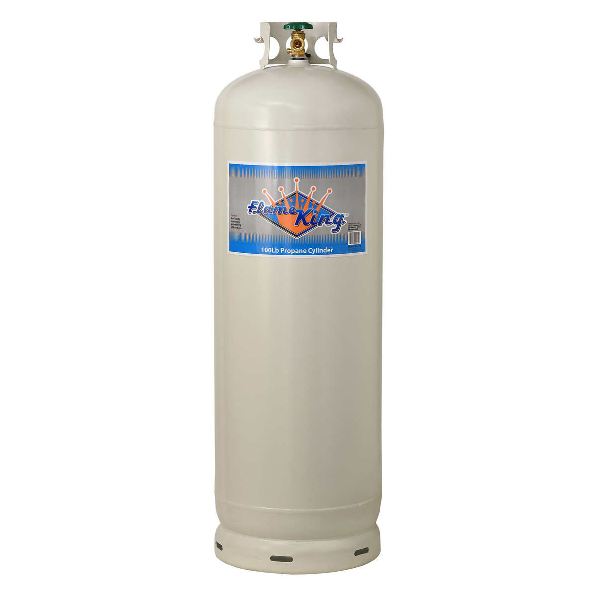 Flame King 100 Lb Empty Steel Propane Cylinder With Pol Valve