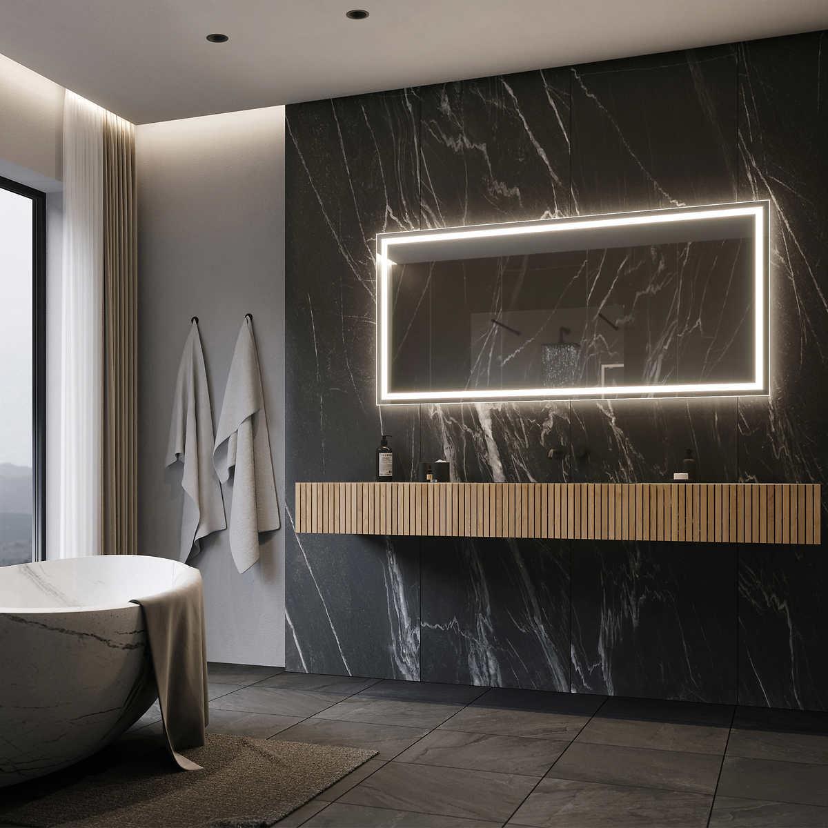 Illuminated Led 28 X 60 Bathroom Mirror By Suite Mirror