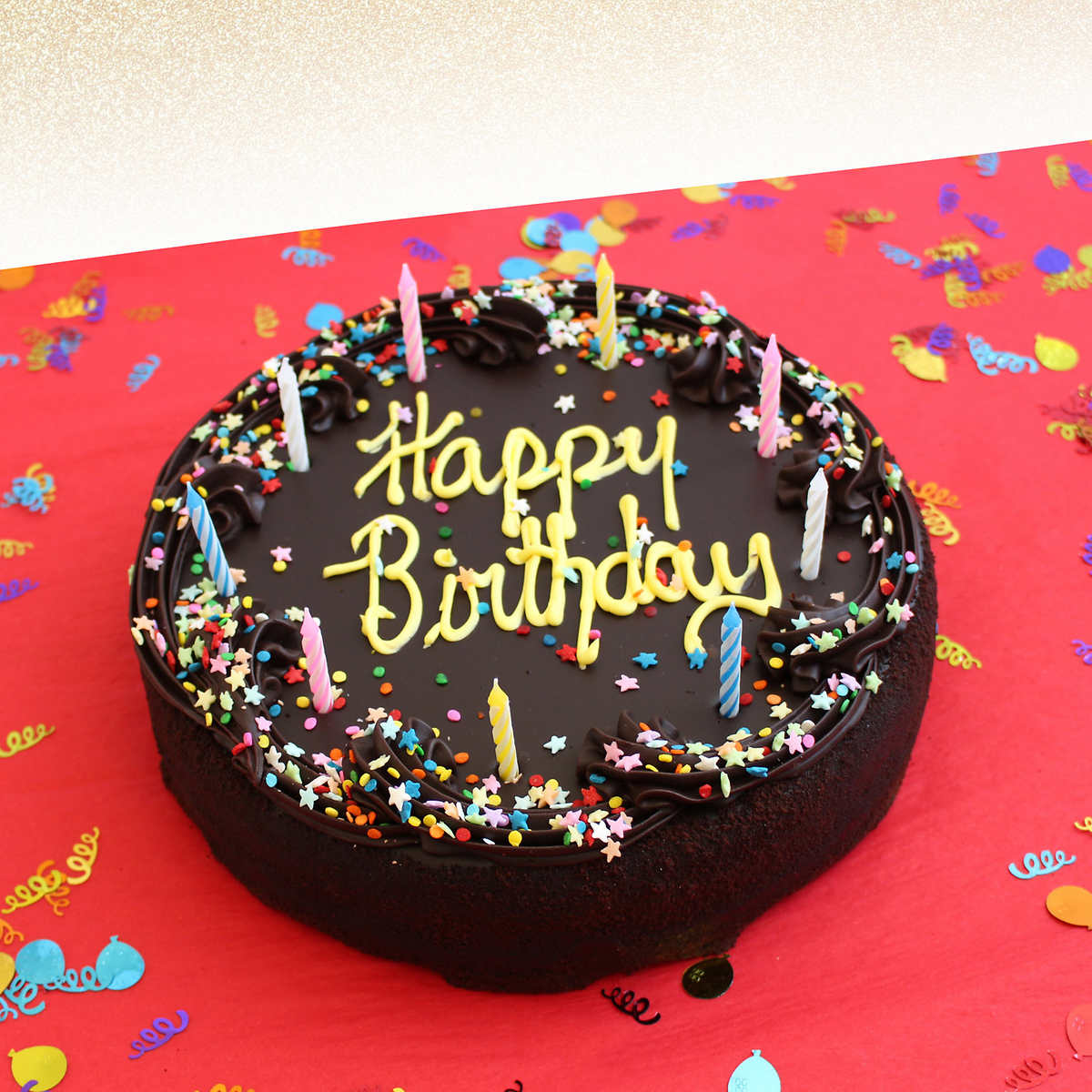 Incredible Davids Cookies Chocolate Fudge Birthday Cake 4 5 Lbs Includes Personalised Birthday Cards Fashionlily Jamesorg
