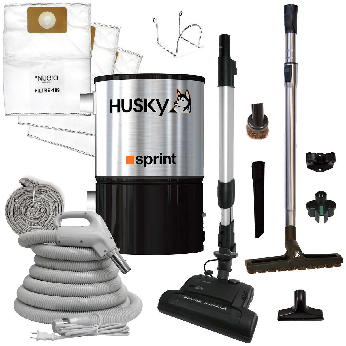Husky Sprint Central Vacuum With Accessory Kit