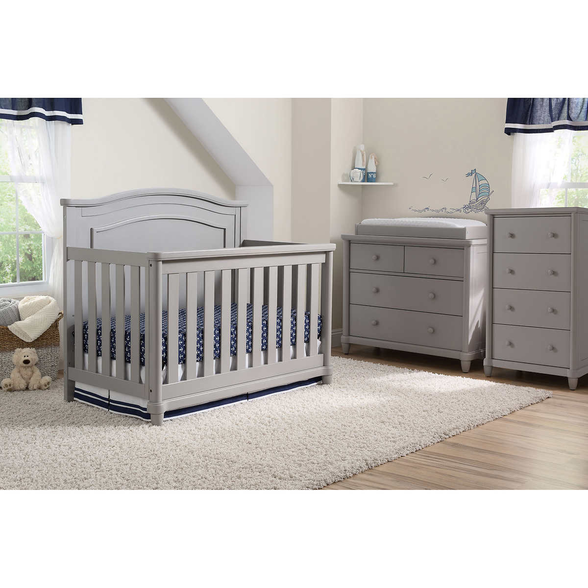 Simmons Kids Sophia 3 Piece Nursery Furniture Set Gray