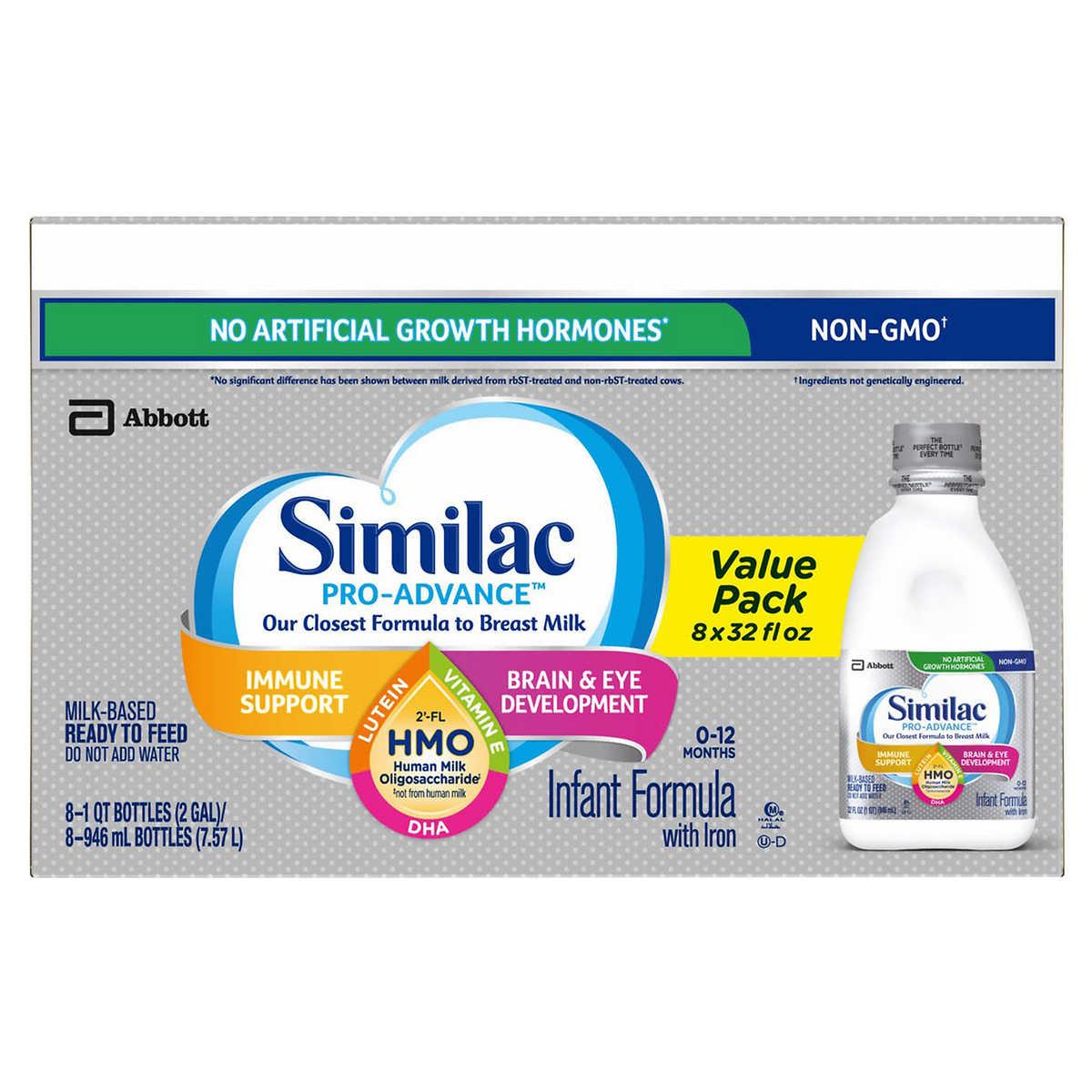 Alimentum Ready To Feed 2 Oz similac pro-advance hmo ready to feed infant formula 8-count, 32 fl oz