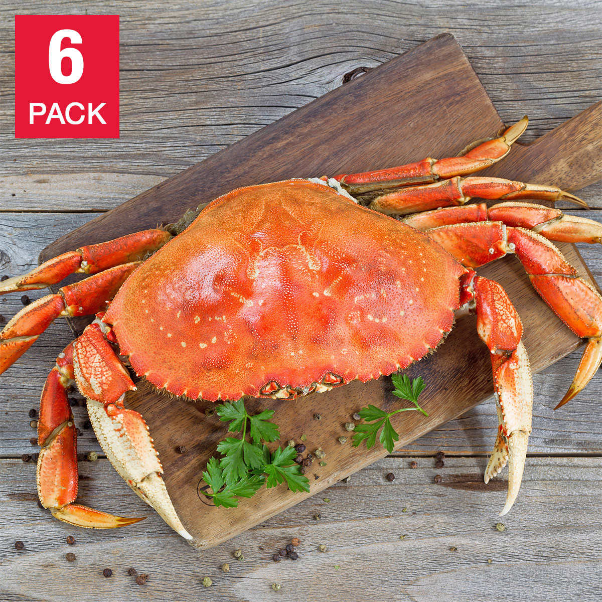 Northwest Fish 6 Whole Dungeness Crab 10 Lbs