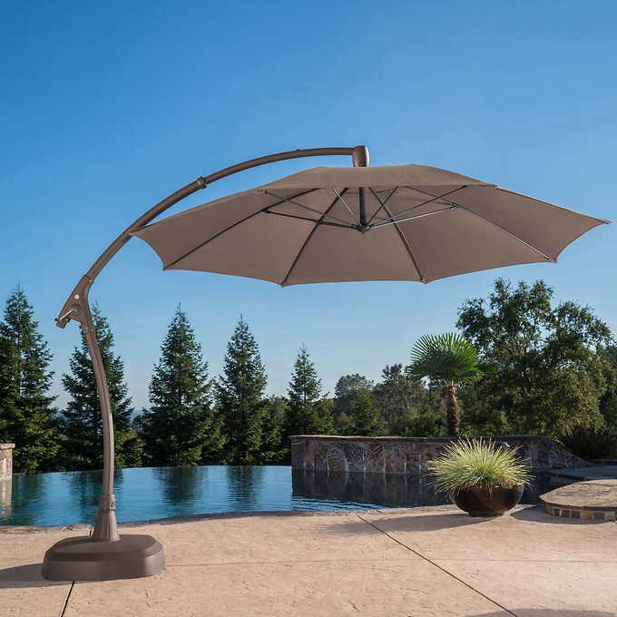Proshade 11 Cantilever Umbrella, Large Tilting Patio Umbrella