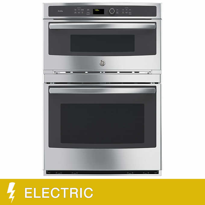 Ge Profile 30 Inch Electric Combination Microwave Wall Oven With Convection And Glass Touch Controls