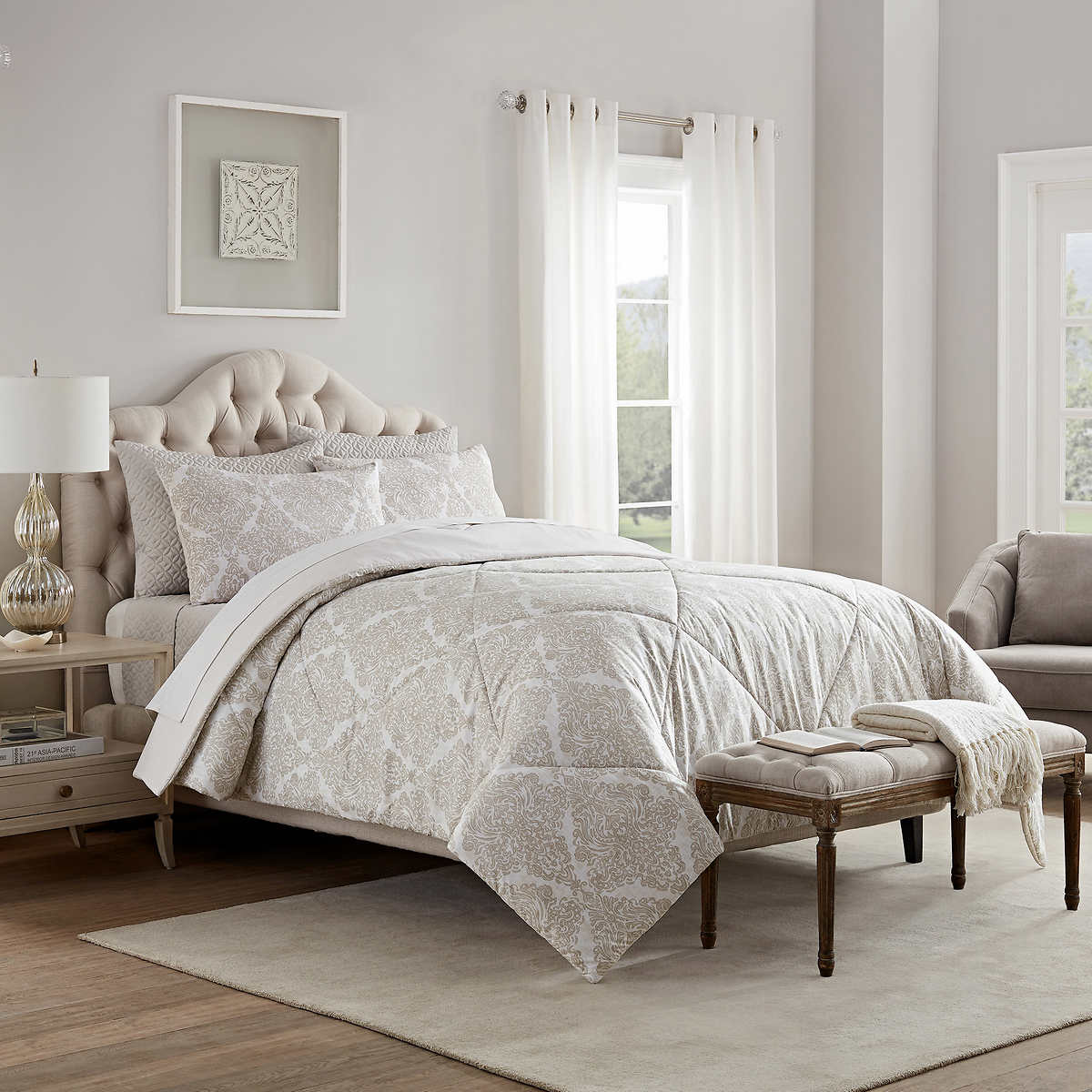 Style Decor 6-piece Comforter And Coverlet Set, Kate Neutral