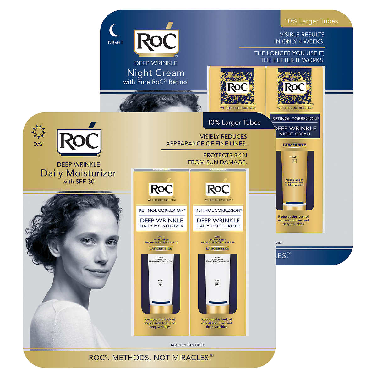 Roc Day Or Night With Retinol Deep Wrinkle Reducer 2 Pack